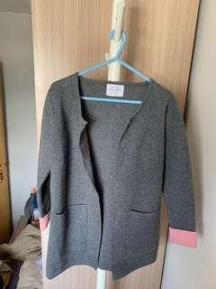 (99% new) 🇰🇷韓國製 大熱灰拼粉綿質柔軟外套🧥