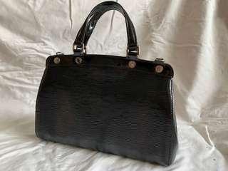 Electric Epi Brea Black Patent Bag