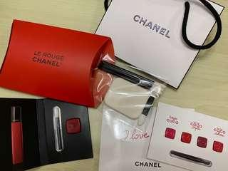 全新 Chanel 兩款 唇部試用裝 + 用具 + 紙袋