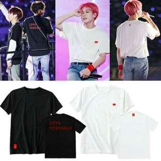 BTS IVORY & BLACK SHIRT MERCH