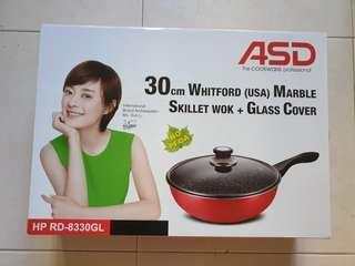 ASD 30cm Whitford (USA) Mable Skillet Wok + Glass Cover