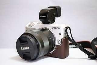 Canon EOS M3 (99% new、18-55鏡、電子觀景器、原廠皮套)