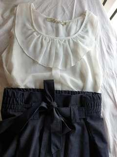 White and Navy Office Wear Bundle
