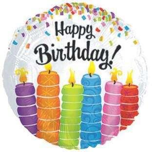 🚚 Happy Birthday Candle Foil Balloon
