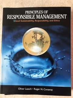 🚚 Principles of Responsible Management by Oliver Laasch & Roger N. Conaway (1st Edition)