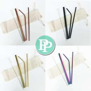 4 PCS SEDOTAN STAINLESS STEEL/ STAINLESS STEEL STRAW TOP QUALITY