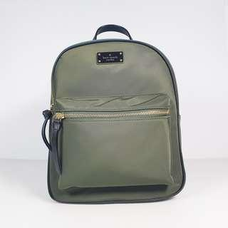🚚 Kate Spade New York Small Bradley Wilson Road Backpack Evergreen