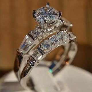 New Super Bright Zircon Lady To Fashion Fashion Engagement Ring Jewelry