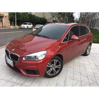 14 BMW 218D 2.0柴油 正一手女用車全原廠保養里程5萬 全額貸 免頭款 0955212607楊先生