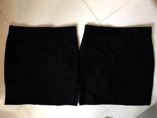 黑色 OL 半截裙 (彈性 修身款)