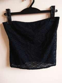 Black Lace Tank Top (Made in Canada)