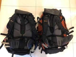 Set of 2 Vertikal Travel Backpack orange & blue