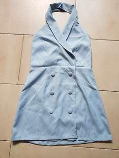 🚚 Halter blue dress