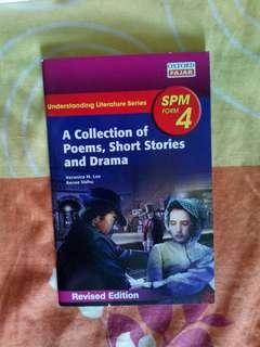 SPM Form 4 - A collection of poems, short stories and drama