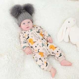100% Cotton Dinosaur Cuttie winter Baby Romper
