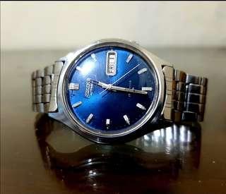 Seiko7009 dial biru automatic