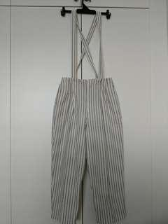 🚚 Striped Culottes with detachable straps