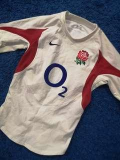 Nike England rugby jersey player issue Authentic