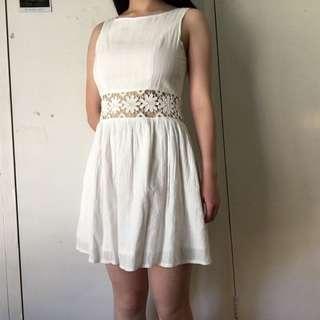 WHITE A-LINE SUMMER DRESS