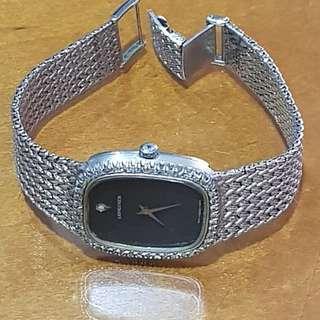 真品浪琴錶226白K金鑽石男、女錶