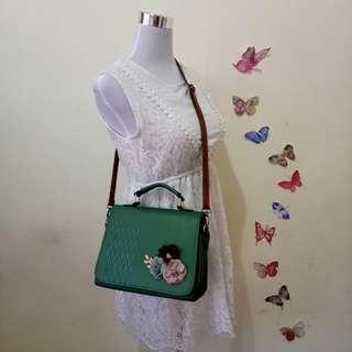 Green Korean Sling Bag