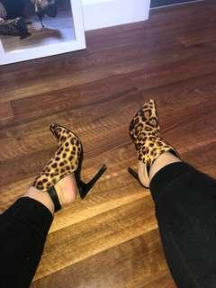 Faux print Heels