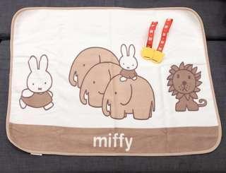 Miffy Stroller Throw / Blanket w/Combi Clips Bundle