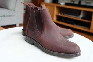 FOUGANZA Brown Leather Boots, fashion & horseriding