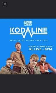2 tix to Kodaline TONIGHT!!