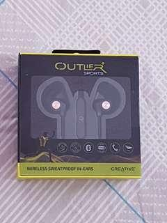 Creative Outlier Sports Ultra-light Wireless Sweat-proof In-ear Headphones  Midnight Blue