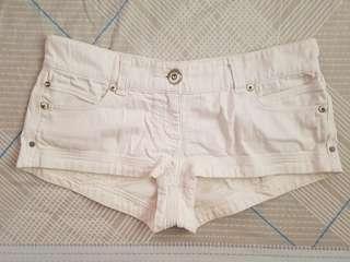 River Island Low Waist White Shorts UK12
