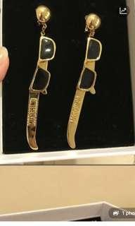 h&m x moschino gold plated sunglasses earrings