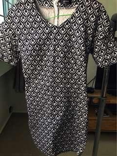 Houndstooth origami dress Zalora Collection