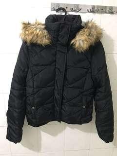 Zara Winter jacket w/ detachable hoodie