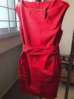 Tangs Studio fire red dress