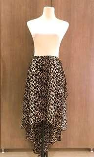 Hi Low Leopard Skirt (stretchable)