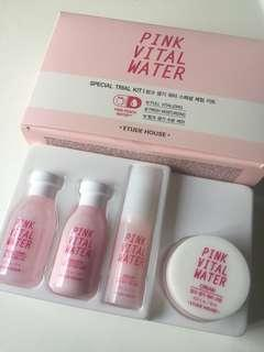 🚚 Etude House Pink Vital Water trial kit
