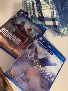 Ps4 Game Ace Combat 7 Resident Evil 2
