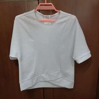 🚚 White Top Blouse Boxy type