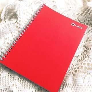 [Fully Redeemed] CIMB Spiral Notebook.