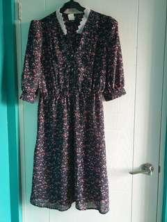Vintage dress chiffon M-L