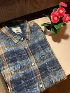 Zara Checkered Denim Shirt