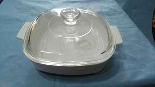 陶瓷微波爐煎鍋 煎碟 連玻璃蓋