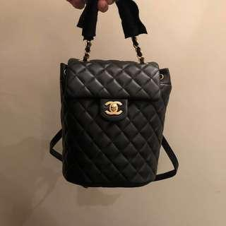 Brand new Chanel black calfskin mini backpack with gold hardware