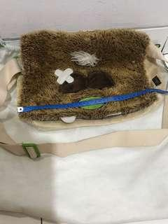 Girl's bag. Bs slung. Furry, cute. Nico monster