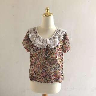 Flower Lacey Blouse