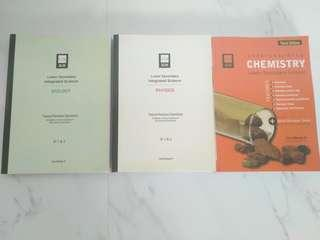 lower secondary science biology chemistry physics assessment guide book workbook instock