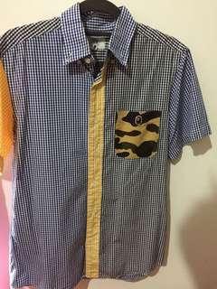 Bape button up shirt