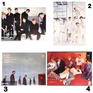 [READY STOCK!!] Monsta X Are You There FIRST PRESS OFFICIAL POSTERS IN TUBE