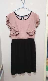 Mididress pink and black